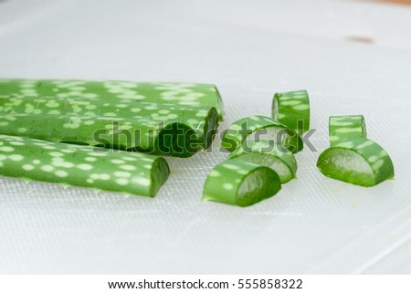 closeup aloe vera plant on cutting stock photo edit now 555858322