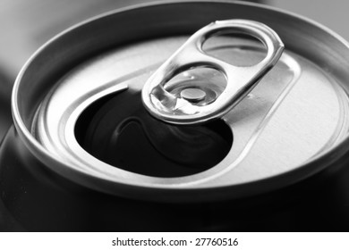 close-up of aluminum can