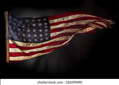 Closeup of American flag