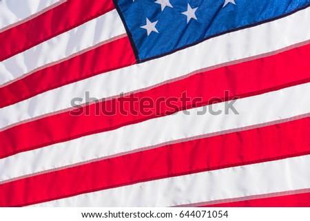 b1877f89909d Closeup American Flag Flowing Waving Star Stock Photo (Edit Now ...