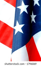 close-up of american flag in vertical