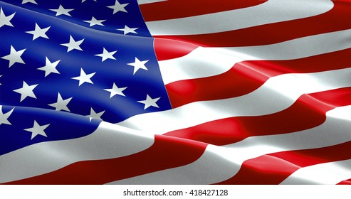 closeup of american USA flag, stars and stripes, united states of america