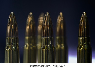 Closeup of Ammunition or bullets in a gun shop