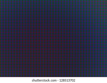 Closeup of AMOLED screen with red,green and blue pixels