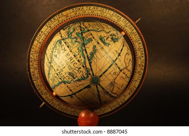 Close-up of an Ancient Globe