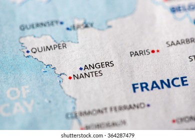 Angers France On Map Stock Photo Edit Now 1068122732 Shutterstock