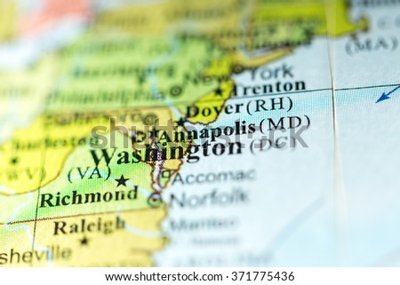 Closeup Annapolis Maryland On Political Map Stock Photo (Edit Now ...