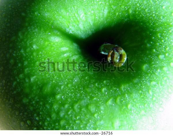Closeup of an apple