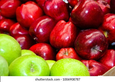 Closeup of apples in the market in Israel