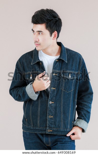 Closeup Asian Man Casual Outfits Standing Stock Photo Edit Now 649308169