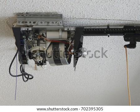 Closeup Automatic Garage Door Opener Motor Stock Photo Edit Now