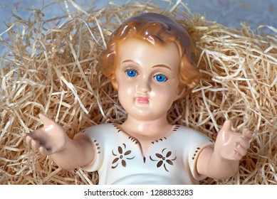 close-up of the baby Jesus