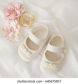 close-up of baby shoes