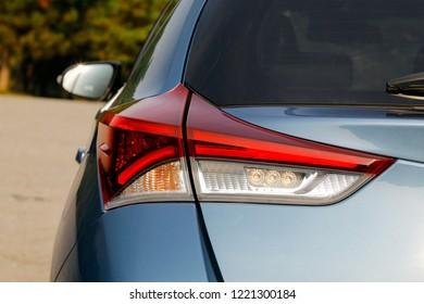 Close-up back light of the modern car