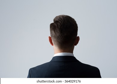Closeup of back of young man's head