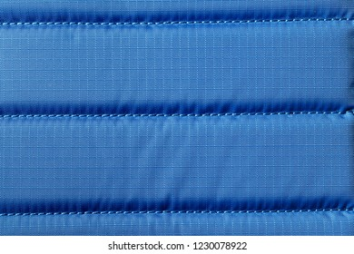 Closeup background of blue fabric or abstract blue fabric texture. Blue background.