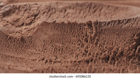 closeup background of chocolate ice cream