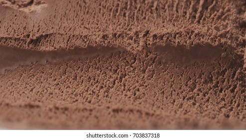 closeup background of chocolate ice cream