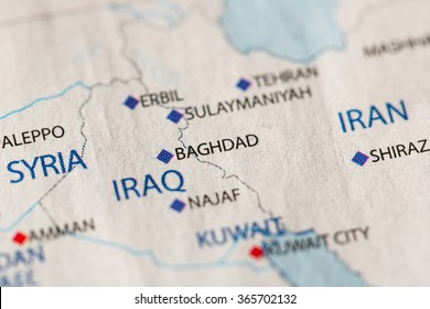 Closeup Sulaymaniyah Iraq On Political Map Stock Photo (Edit Now ...