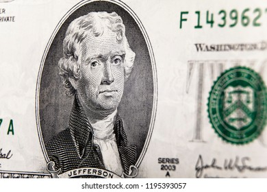 Close-up banknote two dollars