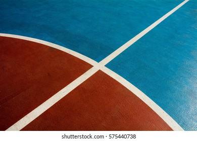closeup basketball court