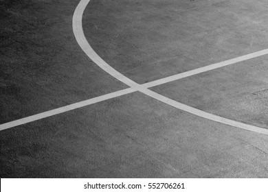 closeup basketball court - monochrome