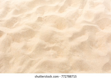 Closeup Beach sand, summer, traces, soft and beautiful