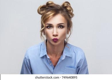 Gorgeous blonde teen girls kissing consider
