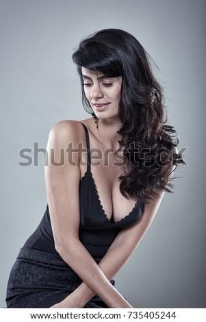 Closeup Beautiful Female Lingerie Model On Stock Photo (Edit Now ... f02c7236b