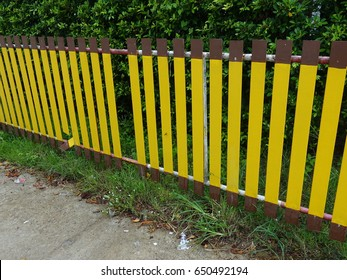 Closeup beautiful fence in Thailand