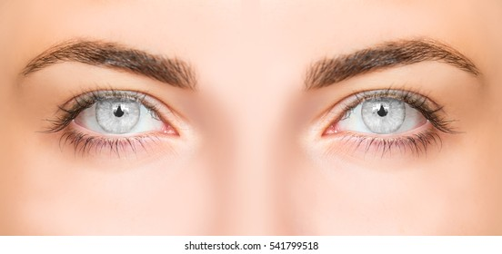 ojos grises