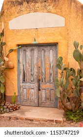 Closeup of a beautiful, rustic, vintage door