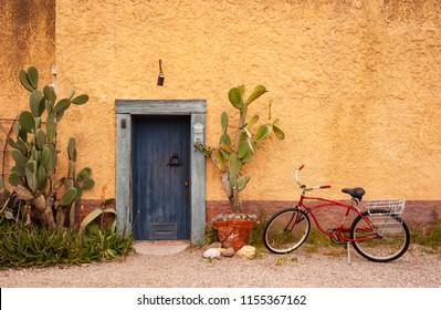 Closeup of a beautiful, rustic, vintage door