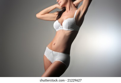 closeup of a beautiful woman in lingerie