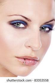 closeup of a beautiful women face