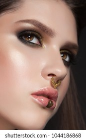 nose piercing images stock photos vectors shutterstock
