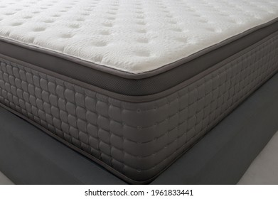closeup of bed and luxury mattress, thick and soft material