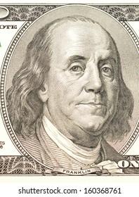 Close-up of Benjamin Franklin