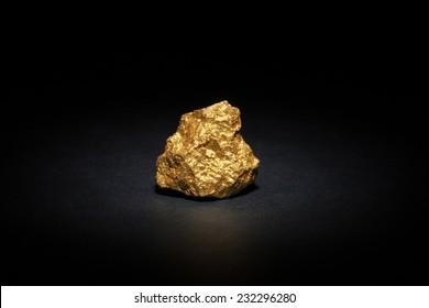 Closeup of big gold nugget