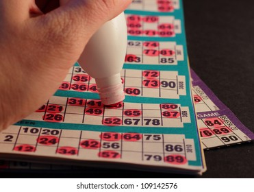 Closeup from a bingo game