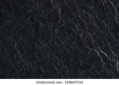 Close-up Black stone texture background