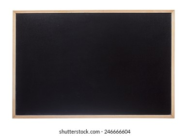 Closeup of a blackboard isolated over white background