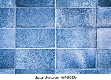 Close-up of a blue ceramic background