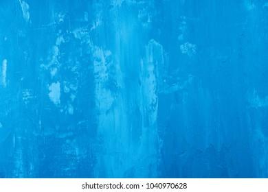 Close-up of blue concrete background texture.