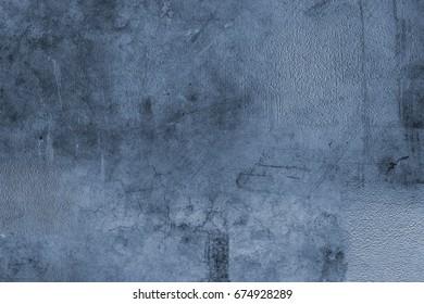 Closeup of blue concrete texture wall