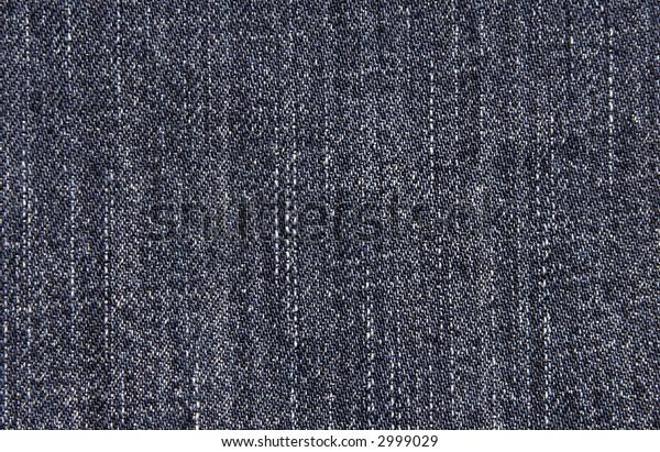 Close-Up Of Blue Denim Cloth - Jeans Background