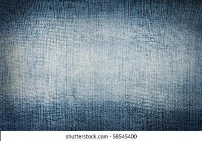 Closeup blue denim jeans texture with copy-paste space