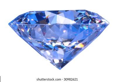 Close-up blue diamond
