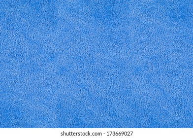 Closeup of blue plush terry texture for background