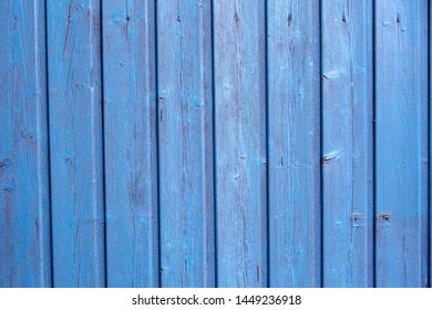 closeup of blue wooden fence as background